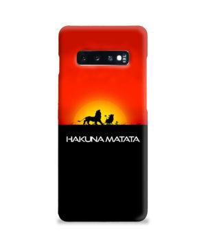 Simba Hakuna Matata for Premium Samsung Galaxy S10 Plus Case