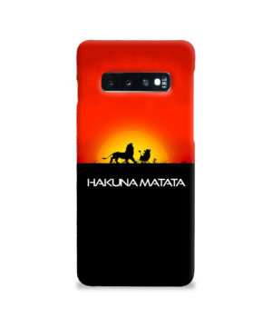 Simba Hakuna Matata for Trendy Samsung Galaxy S10 Case