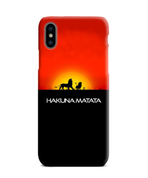 Simba Hakuna Matata for Unique iPhone XS Max Case
