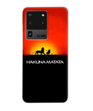 Simba Hakuna Matata for Unique Samsung Galaxy S20 Ultra Case Cover