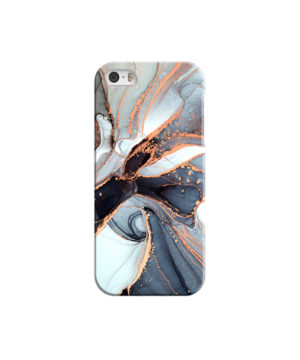 Smoke Rose Gold Marble for Customized iPhone 5 Case