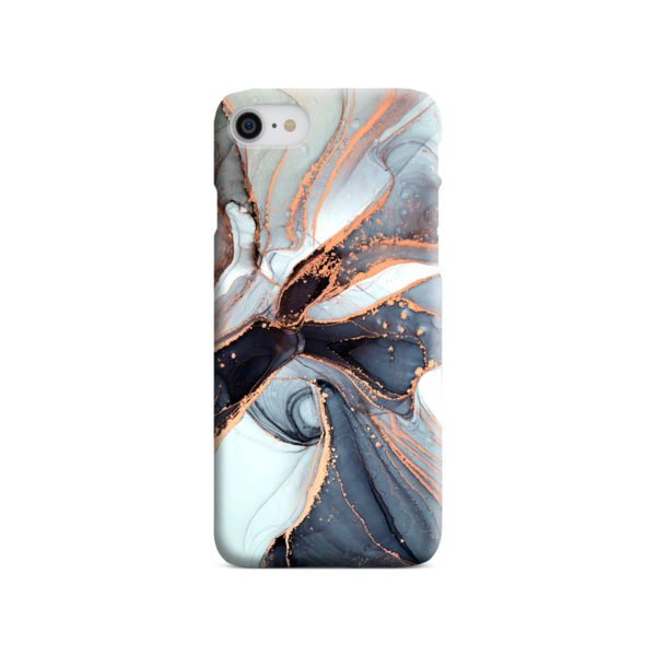 Smoke Rose Gold Marble for Cute iPhone 8 Case Cover