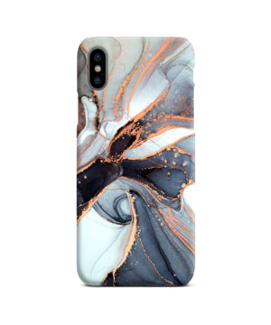 Smoke Rose Gold Marble for Simple iPhone X / XS Case Cover