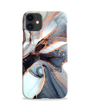 Smoke Rose Gold Marble for Trendy iPhone 11 Case