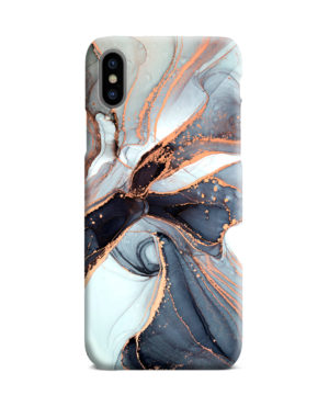 Smoke Rose Gold Marble for Trendy iPhone XS Max Case Cover