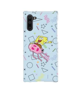 Spongebob Jellyfish for Beautiful Samsung Galaxy Note 10 Case