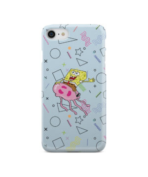 Spongebob Jellyfish for Customized iPhone SE 2020 Case Cover