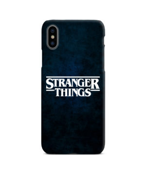 Stranger Things Logo for Beautiful iPhone X / XS Case Cover