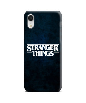 Stranger Things Logo for Nice iPhone XR Case Cover
