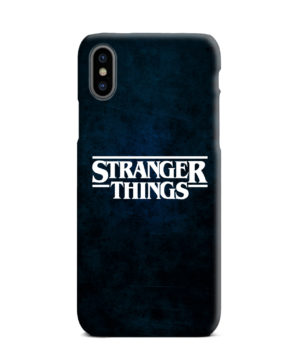 Stranger Things Logo for Personalised iPhone XS Max Case Cover