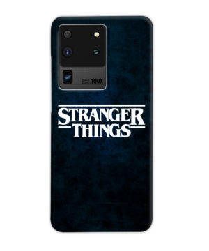 Stranger Things Logo for Personalised Samsung Galaxy S20 Ultra Case Cover