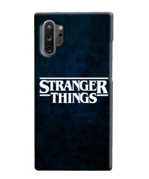 Stranger Things Logo for Unique Samsung Galaxy Note 10 Plus Case