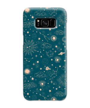 Suns, Moons and Star Signs Space for Beautiful Samsung Galaxy S8 Case Cover