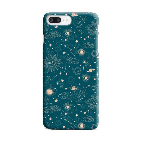 Suns, Moons and Star Signs Space for Cool iPhone 7 Plus Case Cover