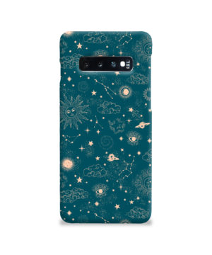 Suns, Moons and Star Signs Space for Cute Samsung Galaxy S10 Case