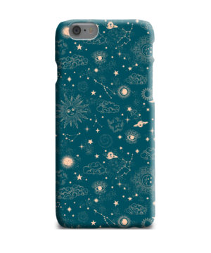 Suns, Moons and Star Signs Space for Newest iPhone 6 Plus Case Cover