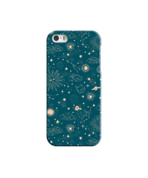 Suns, Moons and Star Signs Space for Personalised iPhone 5 Case Cover