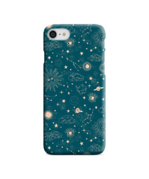 Suns, Moons and Star Signs Space for Personalised iPhone SE (2020) Case Cover