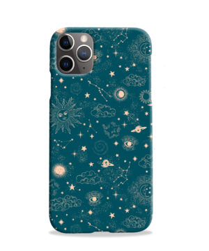 Suns, Moons and Star Signs Space for Simple iPhone 11 Pro Case Cover