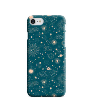 Suns, Moons and Star Signs Space for Simple iPhone 8 Case