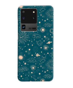 Suns, Moons and Star Signs Space for Simple Samsung Galaxy S20 Ultra Case Cover