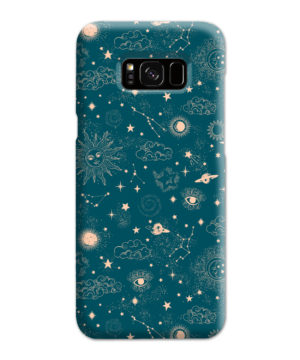 Suns, Moons and Star Signs Space for Stylish Samsung Galaxy S8 Plus Case Cover