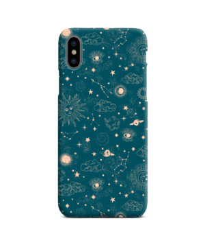 Suns, Moons and Star Signs Space for Trendy iPhone X / XS Case