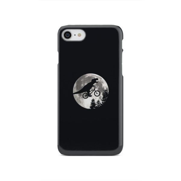 T Rex In Sky With Moon for Unique iPhone SE 2020 Case Cover