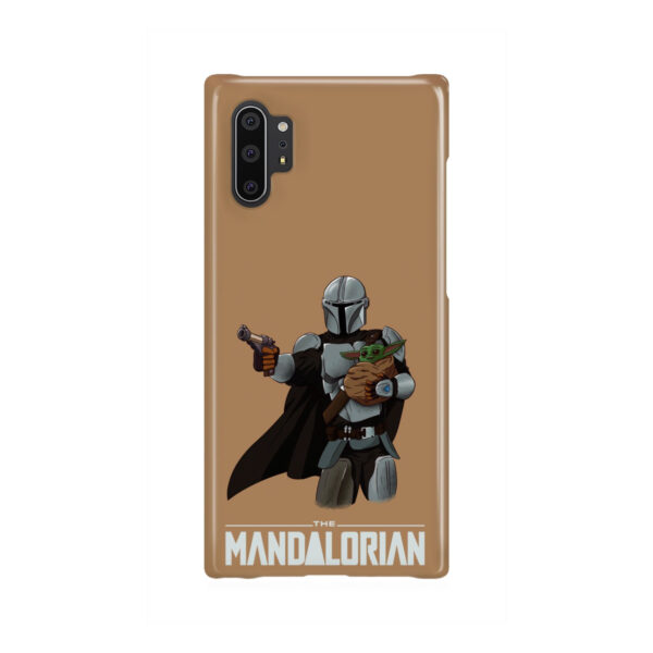 The Mandalorian and Baby Yoda for Personalised Samsung Galaxy Note 10 Plus Case
