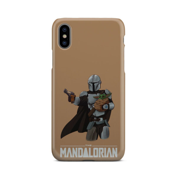 The Mandalorian and Baby Yoda for Unique iPhone X / XS Case