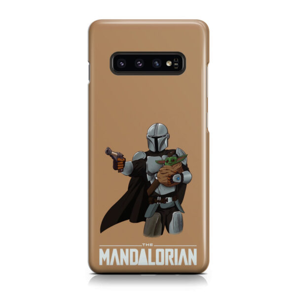 The Mandalorian and Baby Yoda for Unique Samsung Galaxy S10 Plus Case Cover