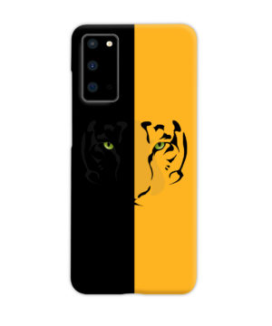 Tiger Yellow and Black for Premium Samsung Galaxy S20 Case Cover