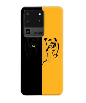 Tiger Yellow and Black for Simple Samsung Galaxy S20 Ultra Case Cover