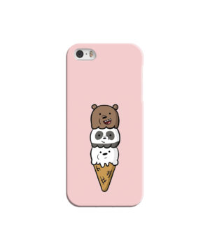 We Bare Bears Ice Cream for Cute iPhone 5 Case Cover