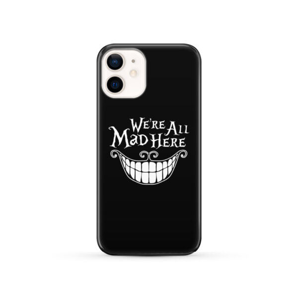 We're All Mad Here Cheshire Cat Smile for Simple iPhone 12 Case Cover