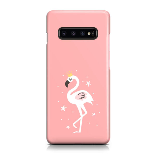 White Flamingo for Customized Samsung Galaxy S10 Case Cover