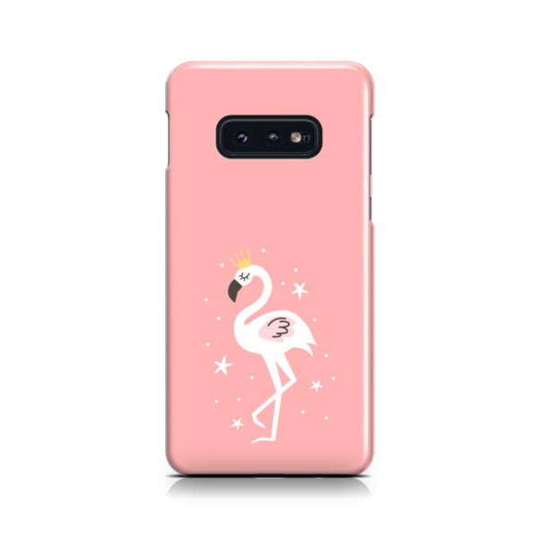 White Flamingo for Customized Samsung Galaxy S10e Case